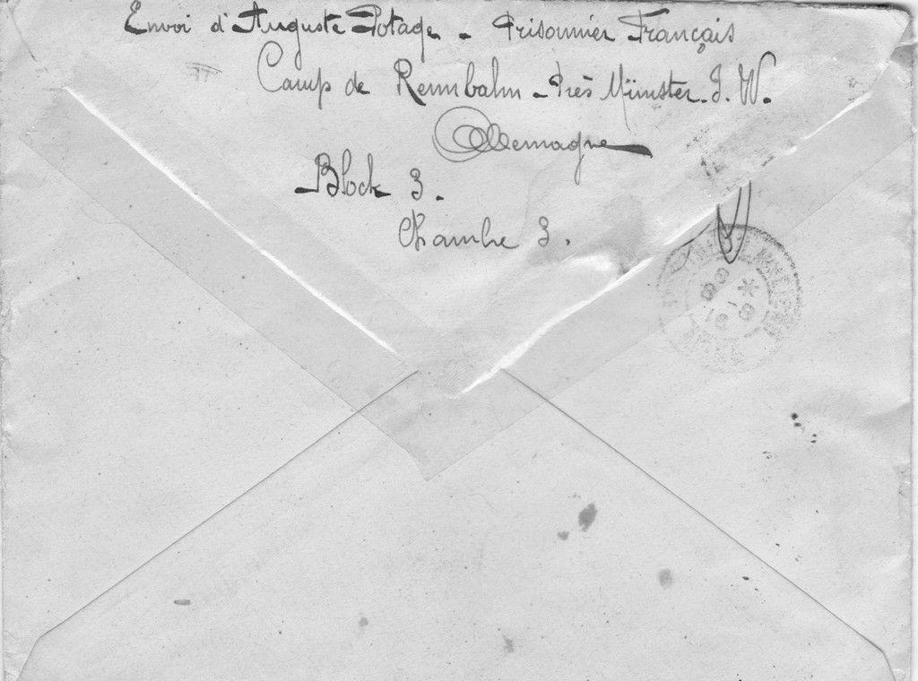 archives envoi d une lettre d un prisonnier. Black Bedroom Furniture Sets. Home Design Ideas